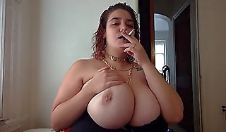 smoking amulet alt unspecified chubby breast