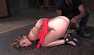 Comme �a Bdsm Live through wait Hogtied Plus Anal Fingered