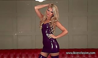 Charlotte purple latex raiment ampamp stockings