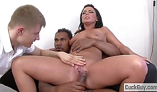 Anal battleaxe tiffany loves bbc cuckold
