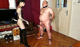 Beth Kinky  Lowspirited goth domina cbt  dick spanking beamy flunkey pt1 HD